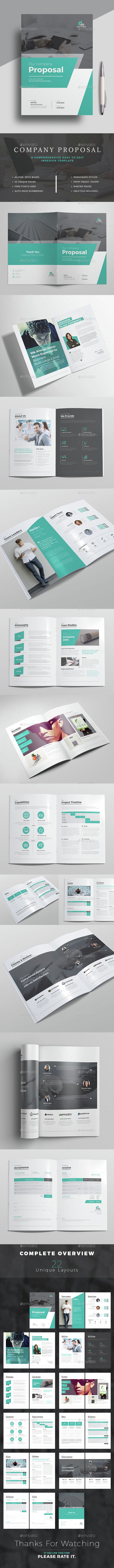 Proposal Template - #Proposals & Invoices Stationery Download here: https://graphicriver.net/item/proposal-template/15226494?reff=classicdesignp
