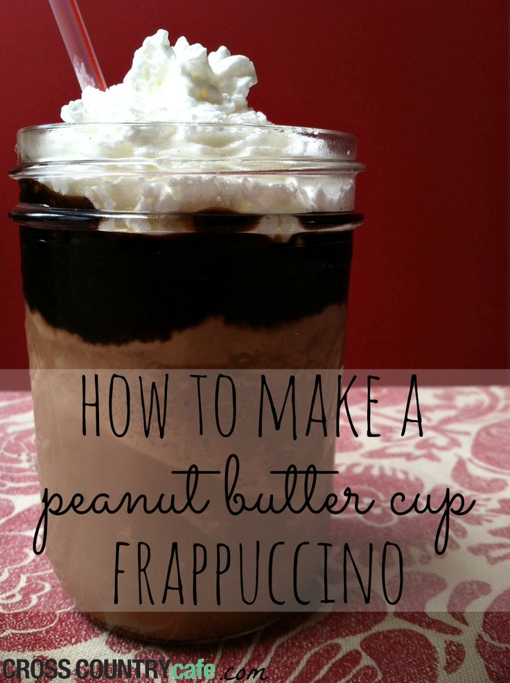 Frappuccino's are my latest obsession, the possibilities are endless! So far I am loving my Peanut Butter Cup Frappucciono but, I will have many more to share!