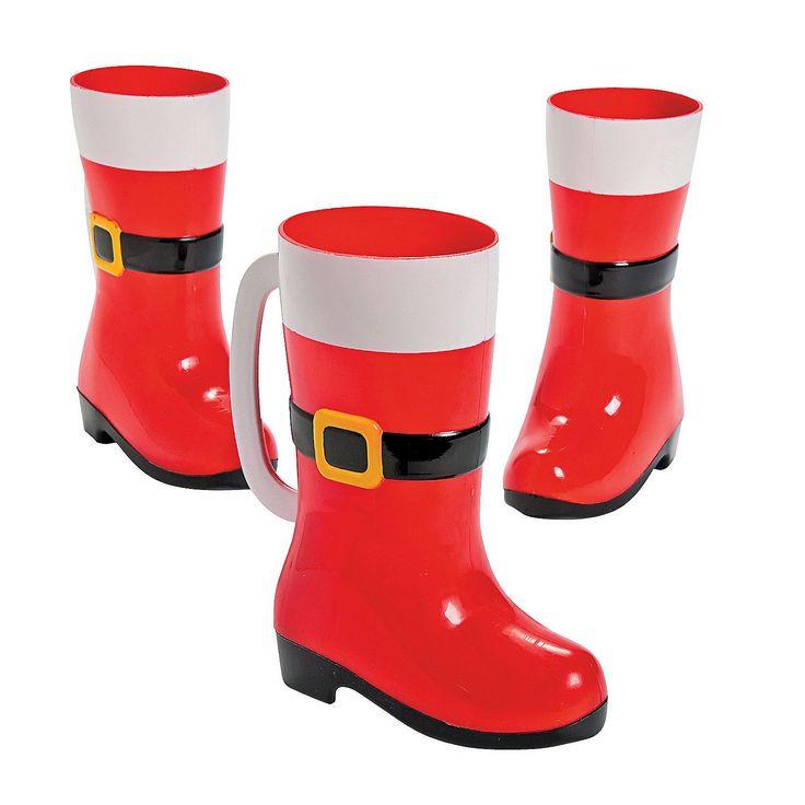 Santa Boot Mugs - OrientalTrading.com