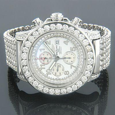 Breitling Diamond Watch 32 ctw