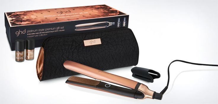 OMG LOVE!!!! The innovative ghd platinum® styler delivers salon results in just one stroke, now available in copper luxe and a premium gift set.