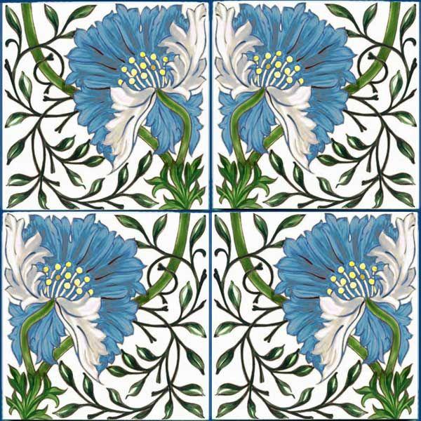 Morris - De Morgan poppy, blue