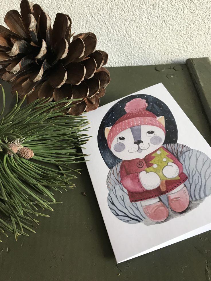 Vánoční+přání...+motiv+č.+3+Vánoční+přání,+profesionální+tisk+z+autorského+akvarelu+na+přírodní+papír+o+gramáži+30g.+Velikost+A6+(notýsek),+otvírací,+včetně+obálky....+Vzadu+signováno.