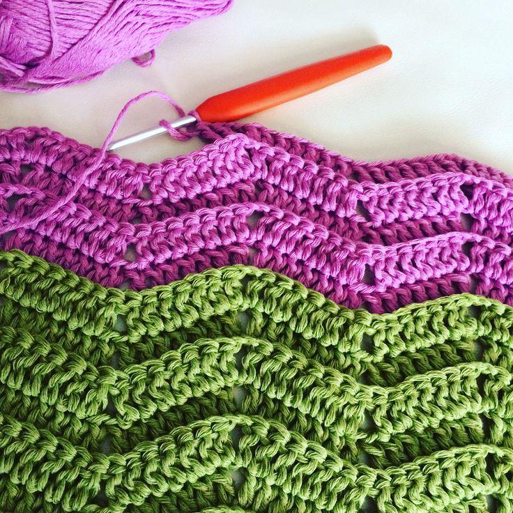 crochet blanket chevron
