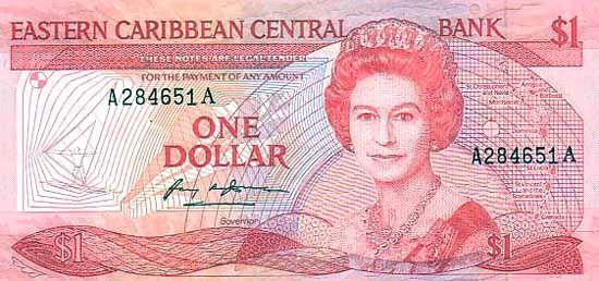 1 Доллар (1985-1993) Британские Виргинские острова (British Virgin Islands) Северная Америка