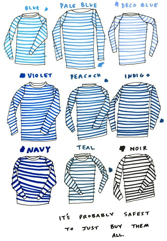 you can never have too many striped shirts