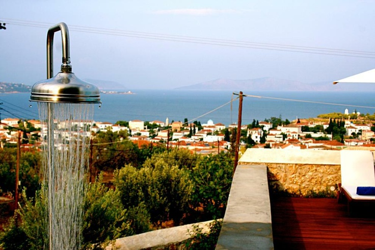 Xenon Estate villas in Spetses - swimming pool panoramic view.  www.xenonestate.gr