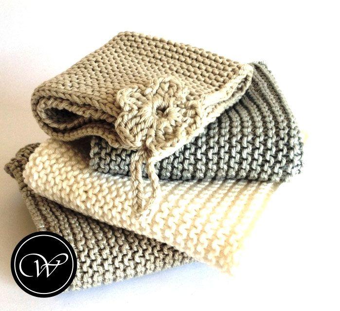Gestrickte Waschlappen | Hand-knitted washcloths