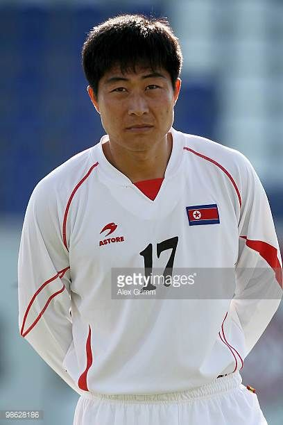 Choe Kum Chol of North Korea during the international friendly match between South Africa and North Korea at the Brita arena on April 22 2010 in...