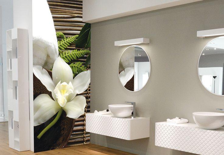 Badezimmer Tapeten Auf Fliesen : Badezimmer Tapete auf Pinterest Tapeten, Badezimmer und Tapete
