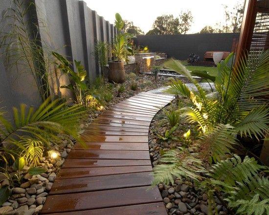 Amnagement alle de jardin et chemin de pierre en 95 ides  Extrieur Exotique ambiance