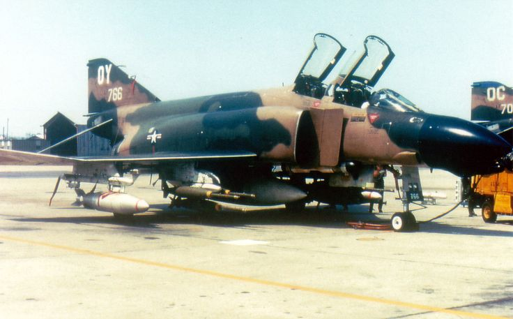 A USAF F-4D Phantom OY 67766 loaded for bear at Udorn, RTAB Thailand. Udorn was an important base that many Air Force support missions were flown out of.
