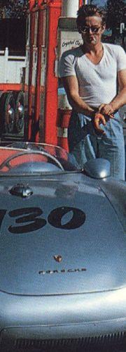 James Dean and his Porsche 550 Spyder