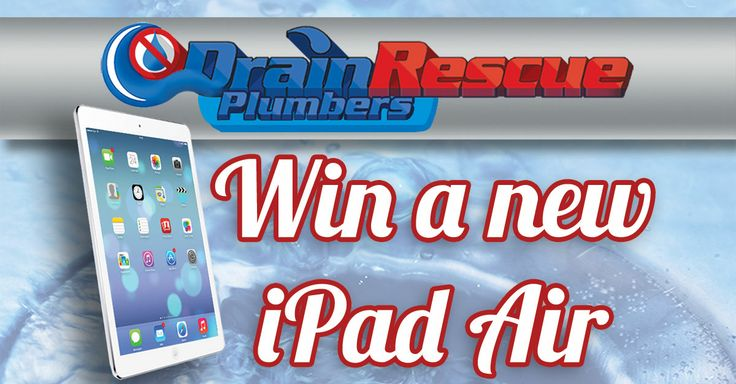 contest for ipad air! drain rescue