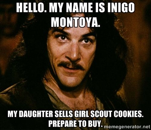 For those of you at the beginning Girl Scout cookie sales | 2Peas ...
