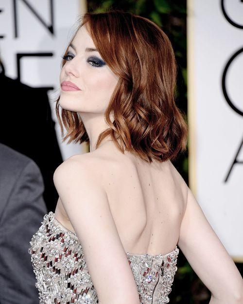 Emma Stone attends the 72nd Annual Golden Globe Awards at The Beverly Hilton Hotel on January 11, 2015 in Beverly Hills, California
