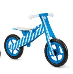 New Striped Wooden Balance Bike