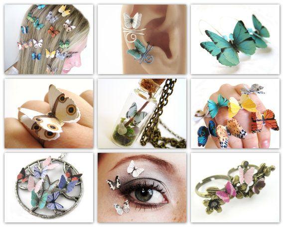 Almost Real Butterfly Earrings Paper by SpotLightJewelry on Etsy