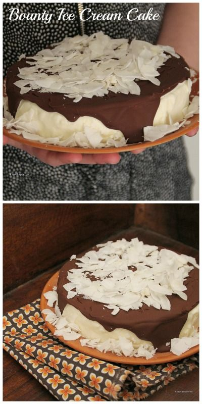 If you love Bounty, this is the dessert for you. Bounty Ice Cream Cake, recipe on the blog.