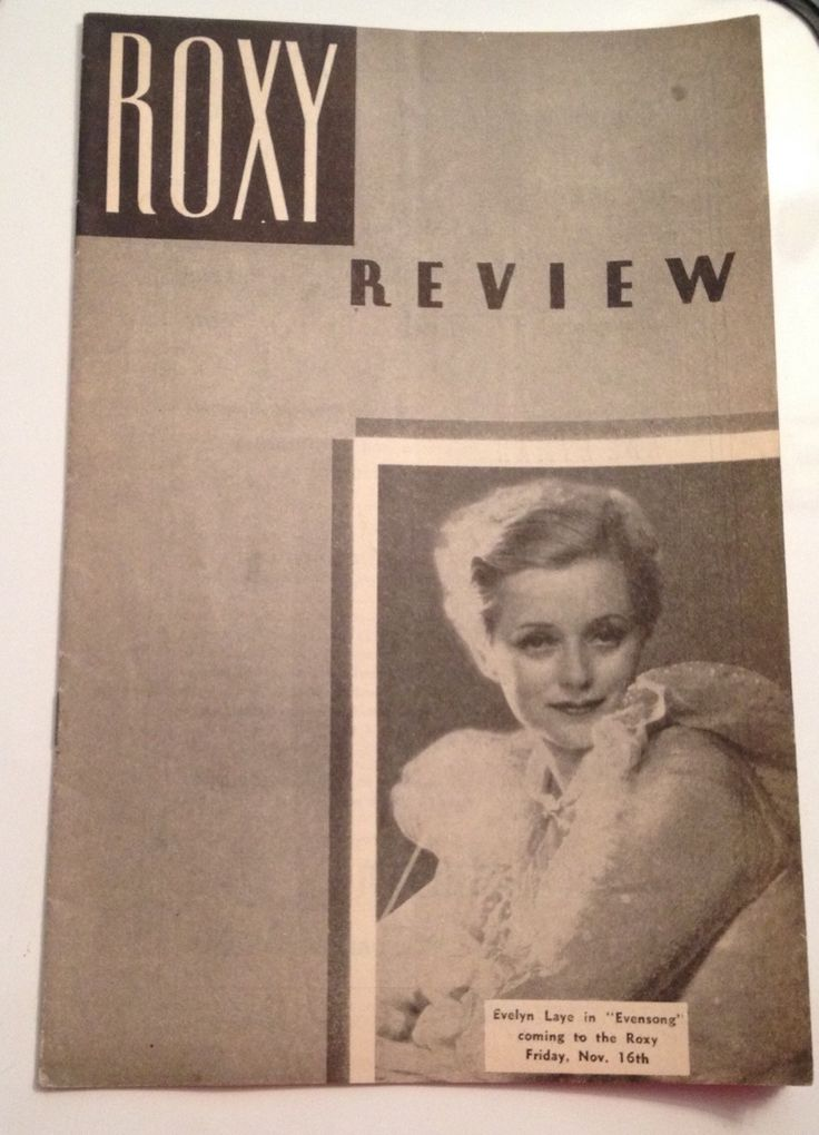 Roxy Review Theatre Program 1934 Evelyn Laye Broadway NYC Theater Ticket Stub Disney #Etsy