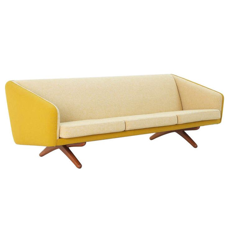 Illum Wikkelso 3 seater sofa in Duotone Kvadrat and X shaped base | From a unique collection of antique and modern sofas at http://www.1stdibs.com/seating/sofas/