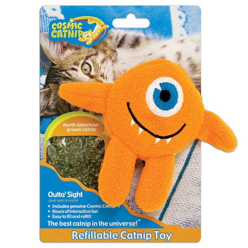Cosmic Catnip Refillable Cyclops Cat Toy