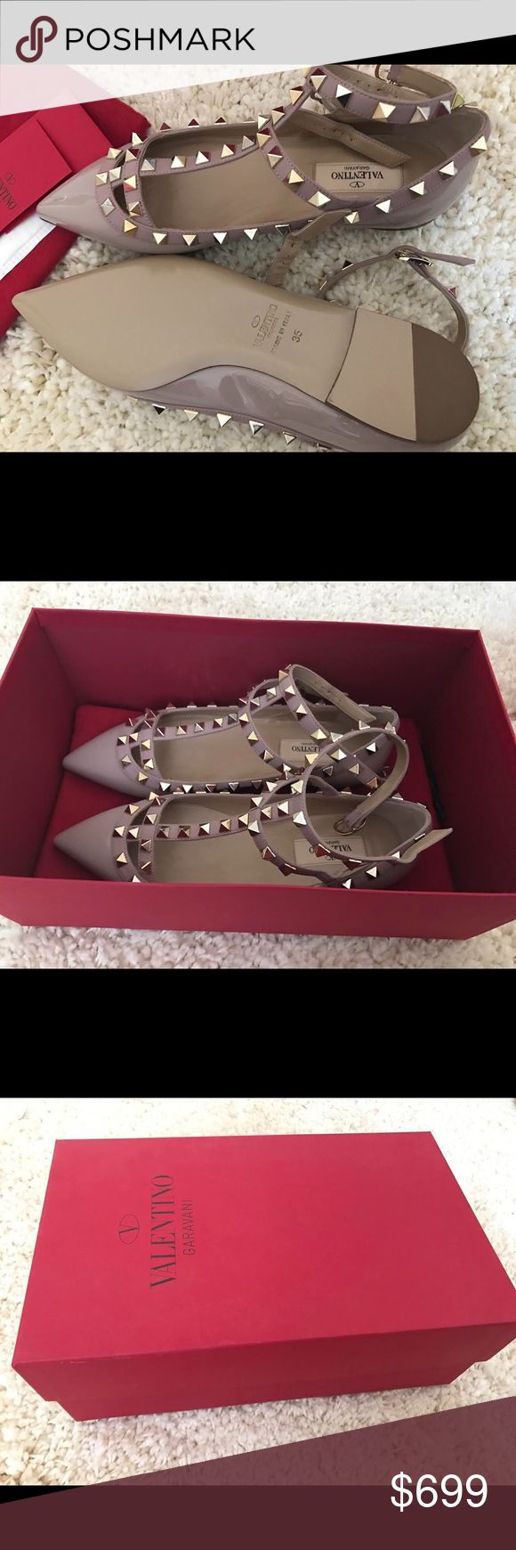 Valentino flats brand new, with original box Valentino flats .  brand new !!!!!!            with box original price was 975+tax  100% authentic. size35. Valentino Shoes Flats & Loafers