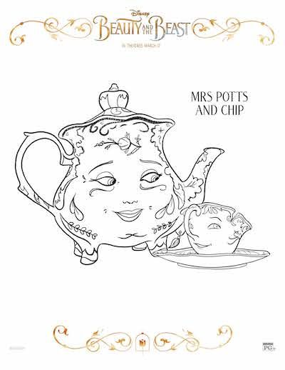 Make Your Disney Family Movie Night Extra Fun With These Beauty And The Beast Printables Coloring Sheets Activity Pages