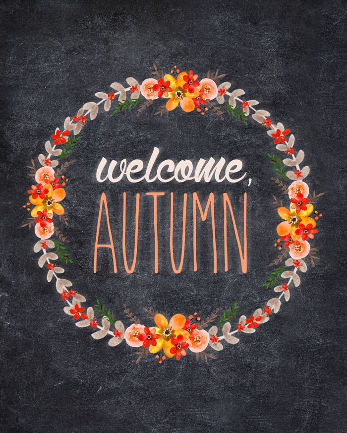 Free Autumn Chalkboard Printable | Rustic, chalky authenticity | 8x10 | Instant Download