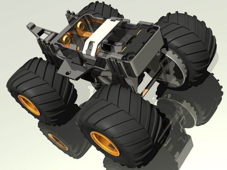 Tamiya Wild Mini 4WD Chassis - CAD  1 by d9xs