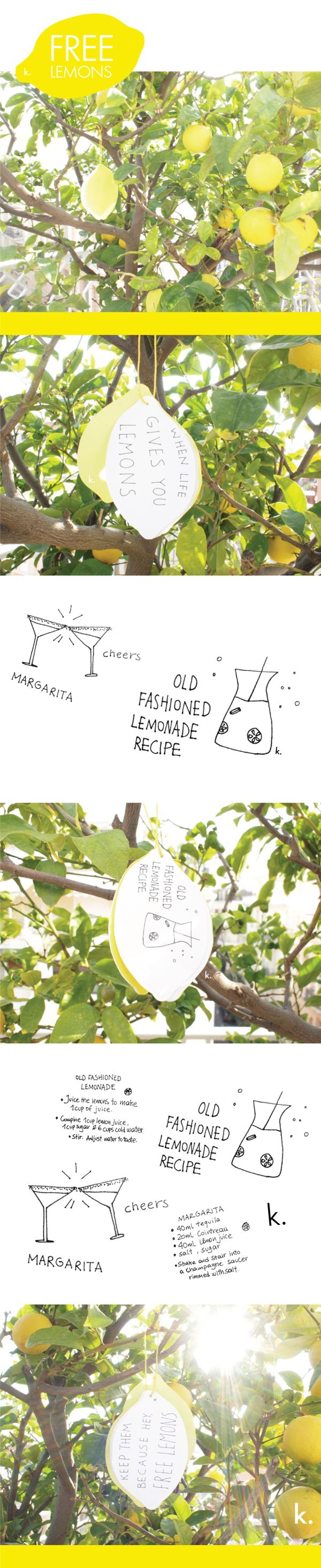 Free Lemons by Katerina Vlachava, via Behance