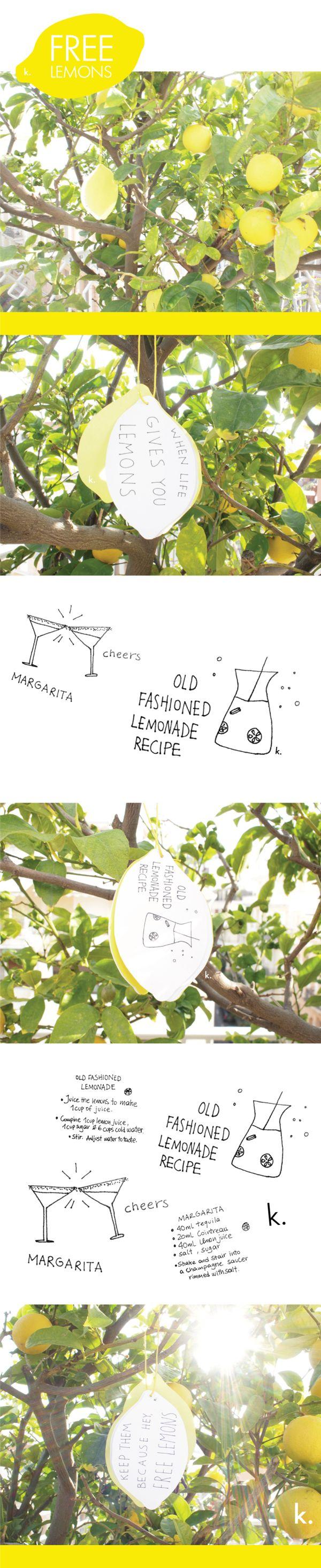 Free Lemons by Katerina Vlachava, via Behance