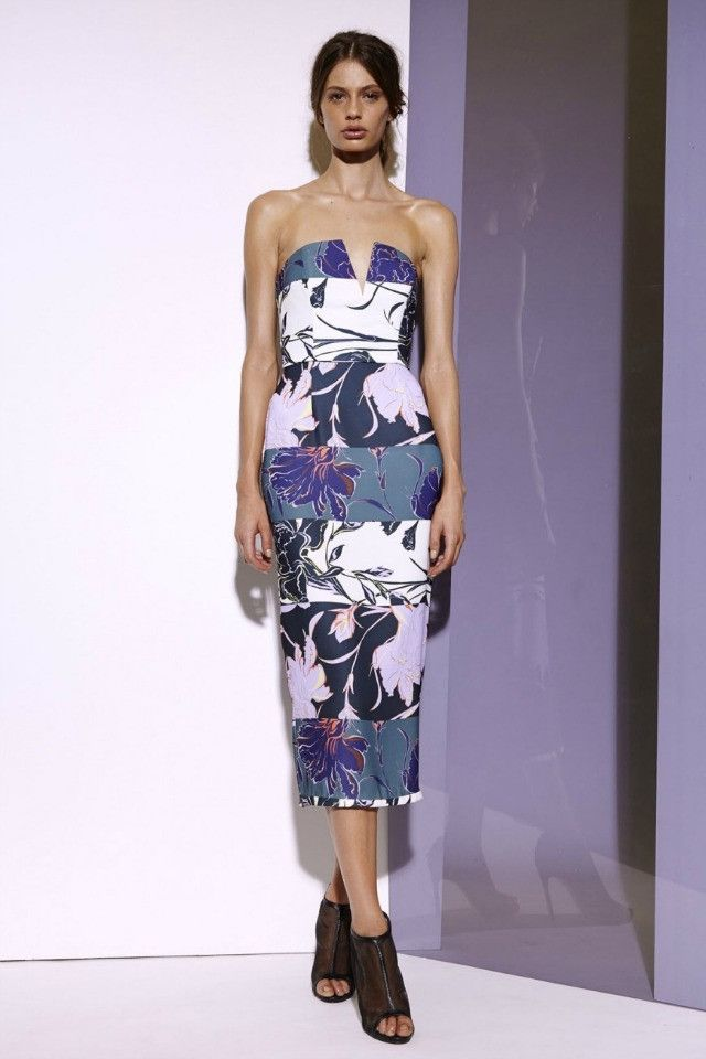 Shona Joy Bustier Midi Dress in Gallery  AUD$290.00 available at www.carouselbondi...