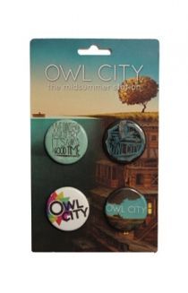 Button Pack Vintage Owl City - Owl City Tour Vintage Owl City - Official Online Store on District Lines