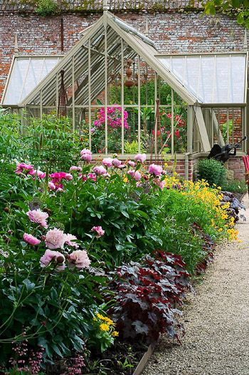 Clive Nichols Photography: The Walled Garden at Cowdray Beautifully-restored walled Tudor garden in West Sussex