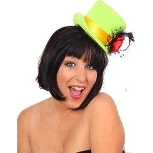 Gezien op beslist.nl: Mini hoge hoed dames fel groen