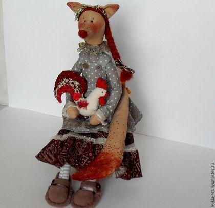 Куклы Тильды ручной работы. Ярмарка Мастеров - ручная работа. Купить Лиса и Петух. Handmade. Разноцветный, деревенский мотив, кружево