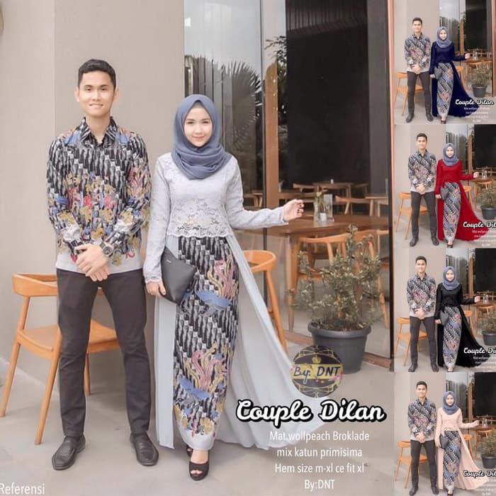 Model Baju Batik Sarimbit Kombinasi