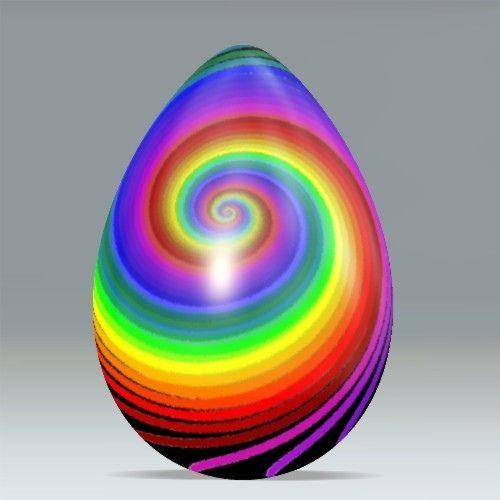Stunning rainbow paperweight