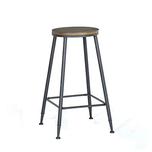Ace Zl Industrial Wind High Stool Black Wrought Iron Bar Chair Home Back Dining Chair Two Styles Solid Wood Leather With Backrest No With Images Wrought Iron Bar Stools