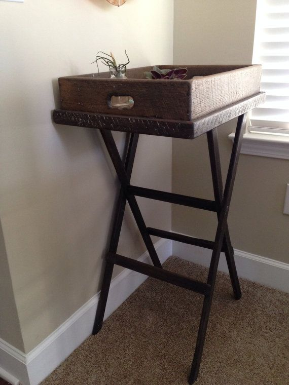 Reclaimed Wooden Serving Tray and Stand. Wooden Serving TraysCharleston Sc 195Salt - 20 Best Images About Salt Wood Co. - Charleston, SC On Pinterest