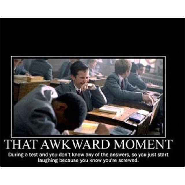 Has this ever happen to you in college?