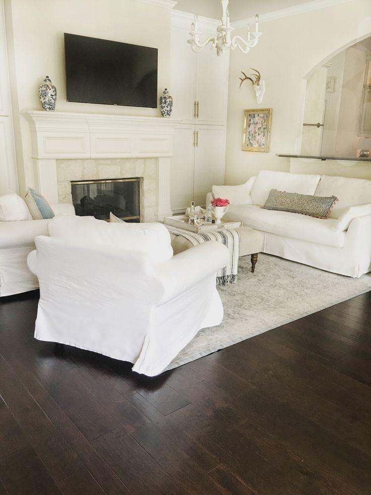 My Living Room @thriftyniftynest On Instagram IKEA Slipcovered Sofa. Ikea  Ektorp Chair. Ikea
