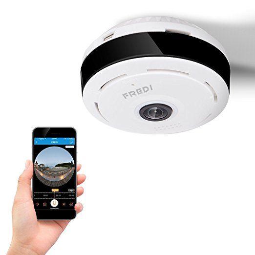 FREDI 960P <b>WiFi</b> IP Security Camera Wide Angle 180°-360°Mini ...