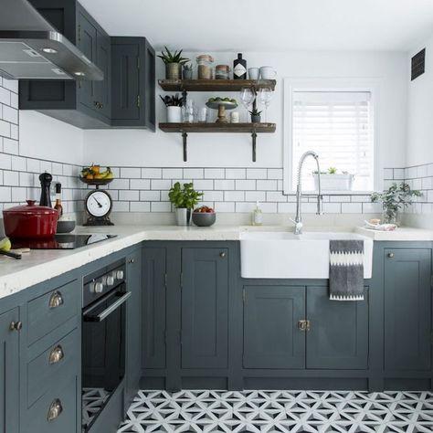 32 best cuisine images on Pinterest Cottage, Cuisine design and - modele de cuisine americaine