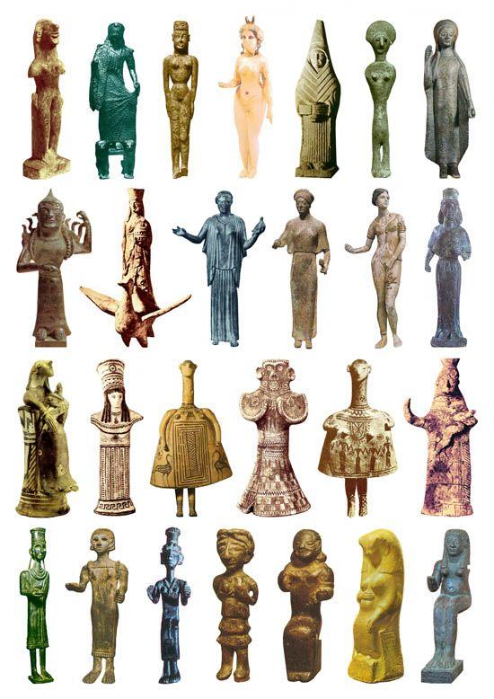 Iron Age Goddess Goddess sculptures 1