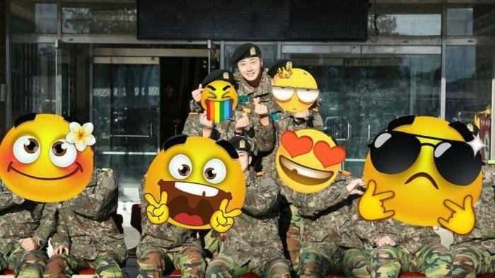 Jung Il Woo Terlihat Bahagia Berfoto Mengenakan Seragam Militer Saat Pelatihan