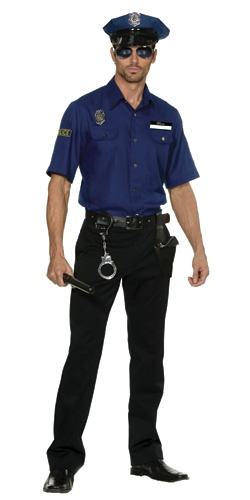 After receiving a black Tantus Anaconda, which reminds me of a police baton/ night stick, I had my heart set on getting a sexy cop costume for my husband. Things didn't quite turn out as planned, though. For full details and pictures (including him wearing it) check out my review: http://truepleasuresreviews.com/review-of-youre-busted-policeman-costume-from-dreamgirl-dreamguy/  http://adult.halloweencostumesfor.me/