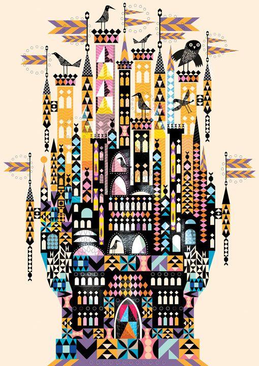 Lesley Barnes #color #castle #geometric