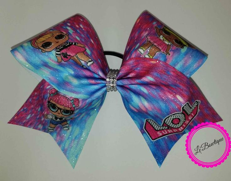 LOL Doll Glitter Cheer Bow   Cheer bows, Lol dolls, Bows